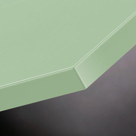 Möbelfronten aus Linoleum pistachio